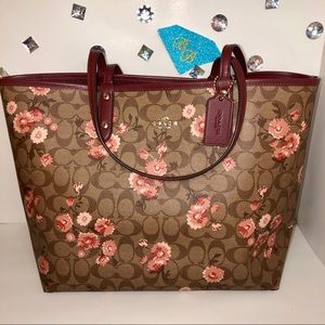 COACH💎SIG PRARIE DAISY CITY REVERSIBLE TOTE
